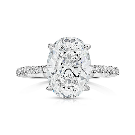 The DE Oval Cut Love Solitaire | Marisa Perry by Douglas Elliott