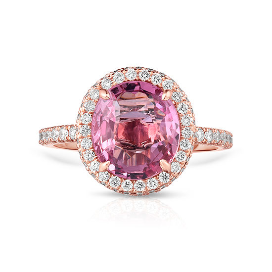 Oval Pink Padparadscha InLove | Marisa Perry by Douglas Elliott
