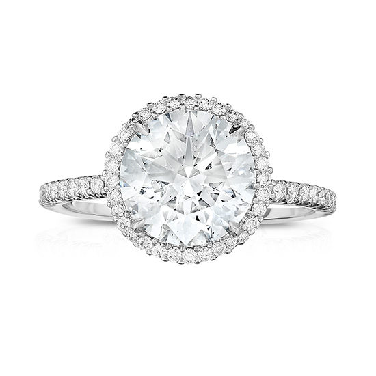 The New InLove Setting with a Round Brilliant Cut Diamond | Marisa Perry by Douglas Elliott