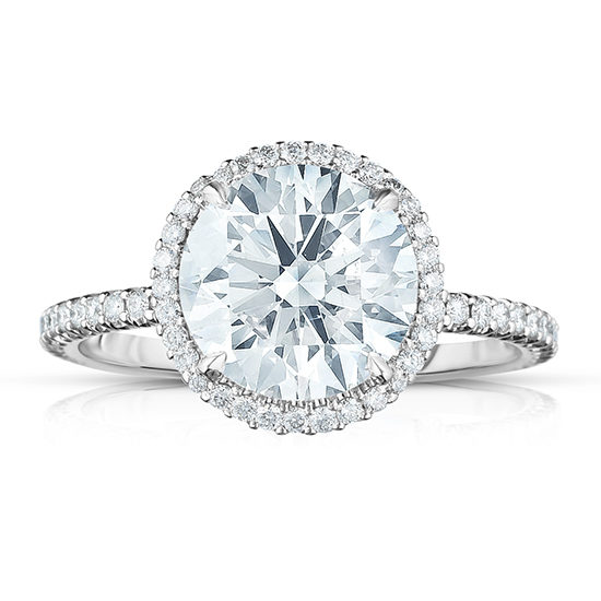 The New InLove Setting with a Round Brilliant Cut Diamond   Marisa Perry by Douglas Elliott