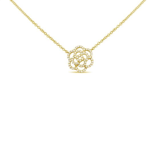 Flower Diamond Pave Necklace