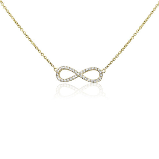 Infinity Necklace 14k Yellow Gold