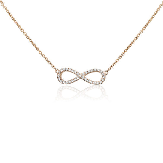 Infinity Necklace 14k Gold