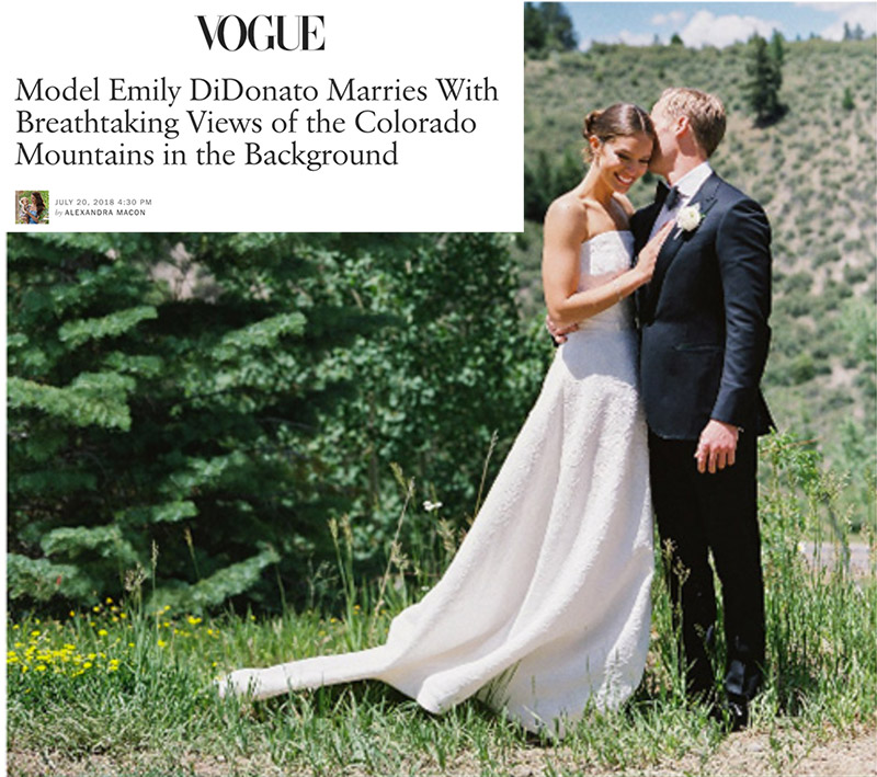 Model Emily DiDonato Marries With Breathtaking Views of the Colorado Mountains in the Background