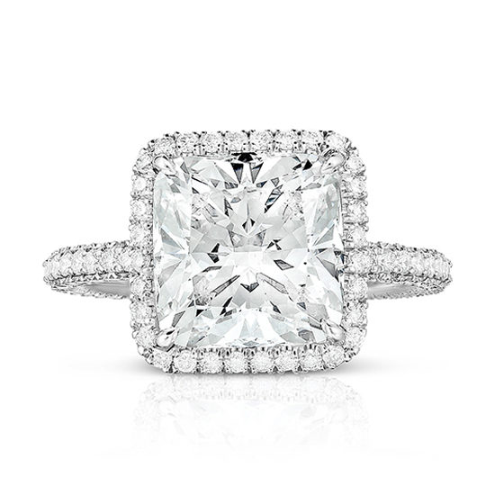 The 4.21 Carat Cushion Cut Diamond InLove Setting | Marisa Perry by Douglas Elliott