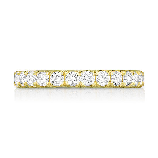 Five Point Micro Pave Eternity Band 18k Yellow Gold   Marisa Perry by Douglas Elliott