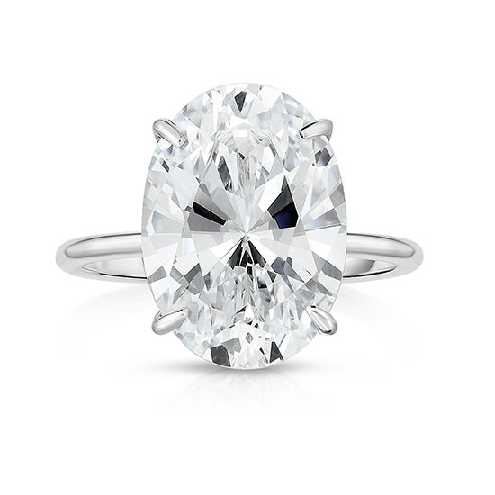 The Six Carat Oval Cut DE Lite Setting Platinum | Marisa Perry by Douglas Elliott