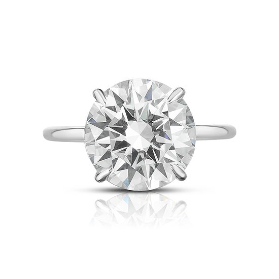 The Six Carat Round Brilliant Cut DE Lite Setting Platinum | Marisa Perry by Douglas Elliott