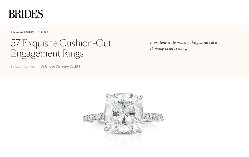 57 Exquisite Cushion-Cut Engagement Rings