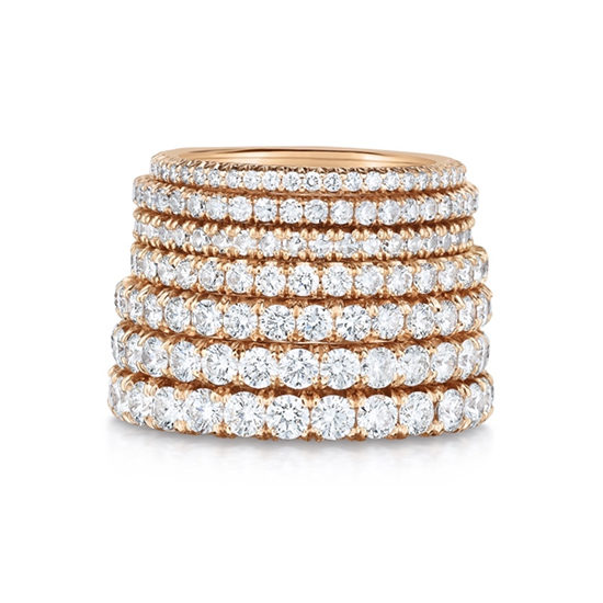 Marisa Perry Micro Pave Eternity Bands 18k Rose Gold | Marisa Perry by Douglas Elliott
