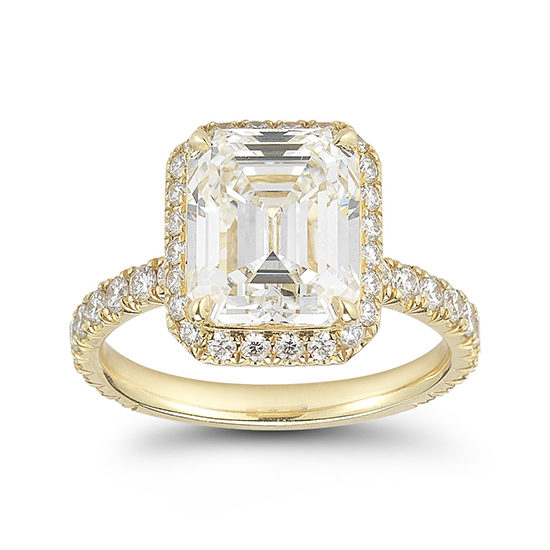 Emerald Cut Diamond InLove Engagement Ring | Marisa Perry by Douglas Elliott