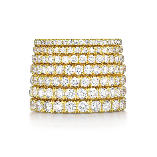 Marisa Perry Micro Pave Eternity Bands 18k Yellow Gold | Marisa Perry by Douglas Elliott