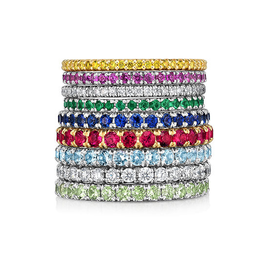 Marisa Perry Multicolored Micro Pave Bands   Marisa Perry by Douglas Elliott