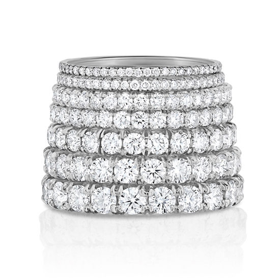 Marisa Perry Micro Pave Eternity Bands Platinum | Marisa Perry by Douglas Elliott