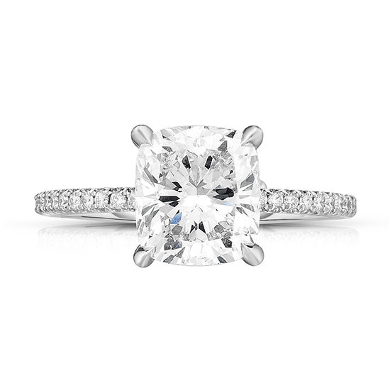 The 2.02 Carat Cushion Cut DE Diamond Solitaire | Marisa Perry by Douglas Elliott