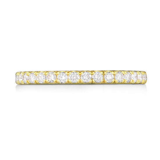 Two Point Diamond Micro Pave Eternity Band 18K Yellow Gold | Marisa Perry by Douglas Elliott