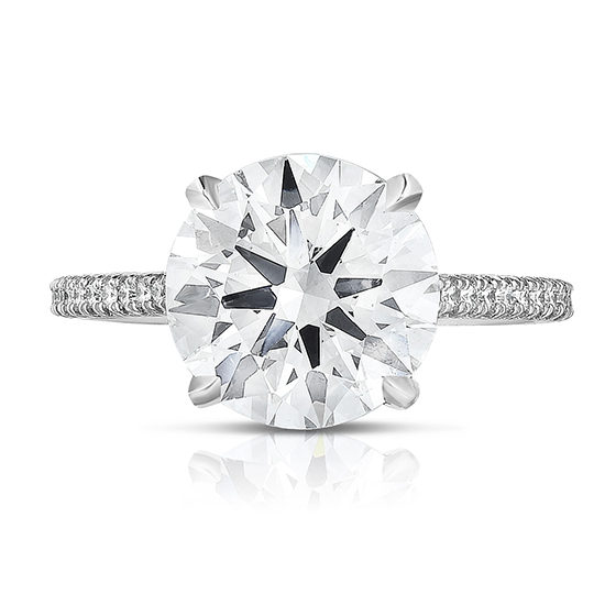 The 3.06 Carat Round Brilliant Cut Diamond Royal Setting | Marisa Perry by Douglas Elliott