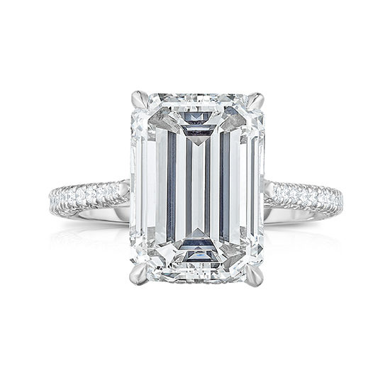 The 4.61 Carat Emerald Cut Orchid Setting | Marisa Perry by Douglas Elliott