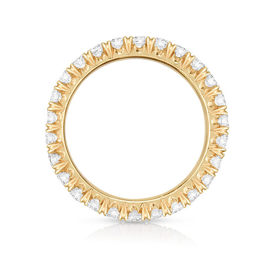 Five Point Micro Pave Eternity Band 18k Rose Gold | Marisa Perry by Douglas Elliott