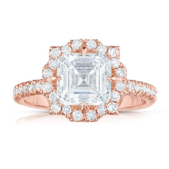 The Asscher Cut Diamond Casablanca Setting | Marisa Perry by Douglas Elliott