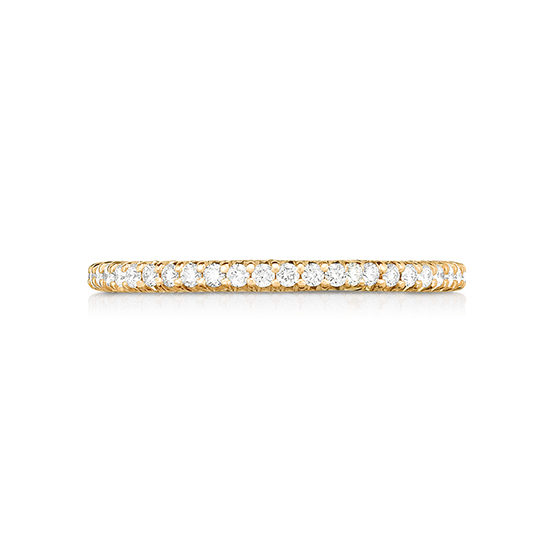 Half Point Micro Pave Diamond Band 18K Rose Gold | Marisa Perry by Douglas Elliott