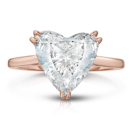 The Royal Setting with a Heart Shape Diamond | Marisa Perry by Douglas Elliott
