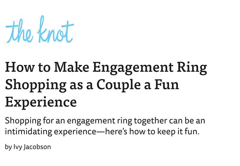 How to Make Engagement Ring Shopping as a Couple a Fun Experience