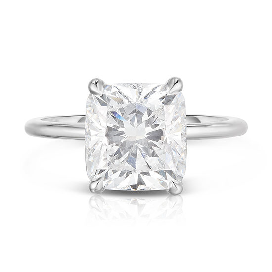 The 3.70 Carat Cushion Cut DE Solitaire | Marisa Perry by Douglas Elliott