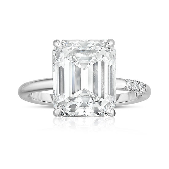 5.01 Carat Emerald Cut DE Solitaire | Marisa Perry by Douglas Elliott