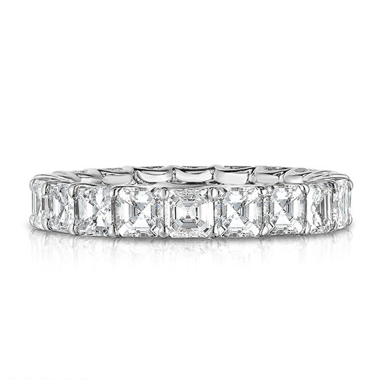 Marisa Perry Asscher Cut Diamond Eternity Band | Marisa Perry by Douglas Elliott