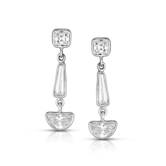 Half moon-cut Diamond Dangle Earrings | Marisa Perry Light Drop Earrings