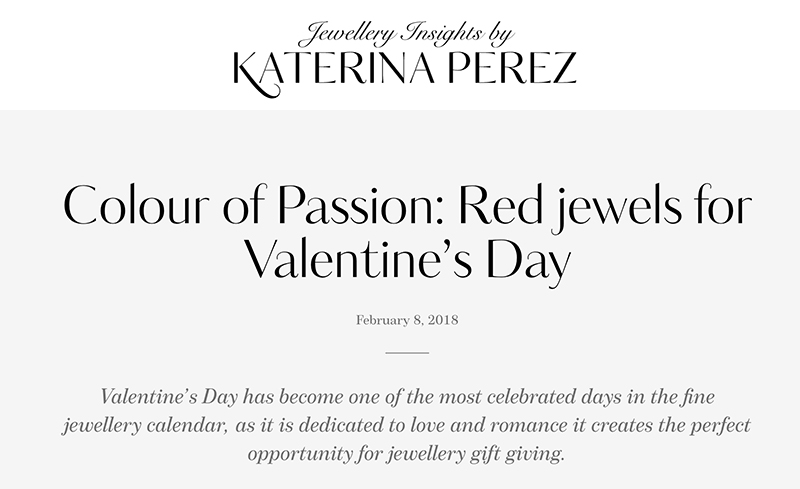 Colour of Passion: Red jewels for Valentine's Day