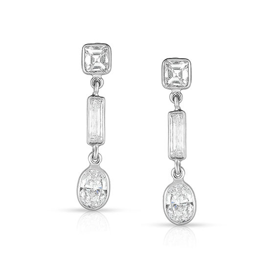 Oval Cut Diamond Dangle Earrings | Marisa Perry Light Drop Earrings