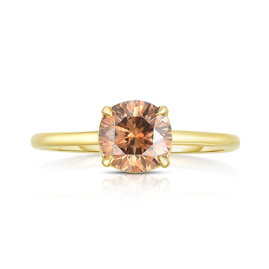 Round Brilliant Cut DE Solitaire with a Color Treated Brown Diamond | Marisa Perry by Douglas Elliott