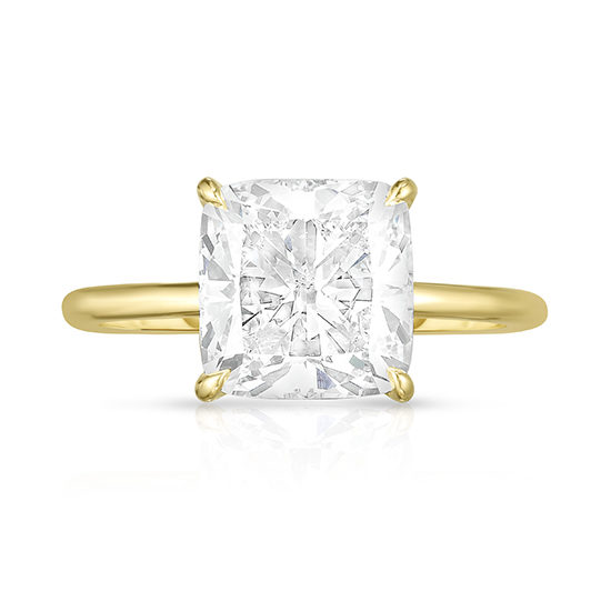 3.03 Carat Cushion Cut DE Solitaire 18k Yellow Gold | Marisa Perry by Douglas Elliott