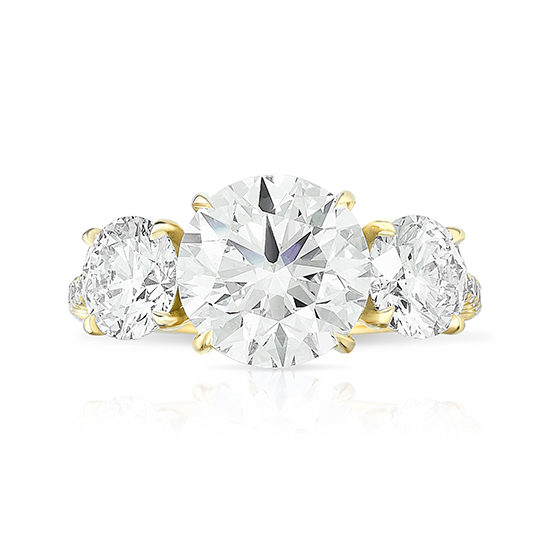 Marisa Perry Three Stone Round Brilliant Engagement Ring | Marisa Perry by Douglas Elliott