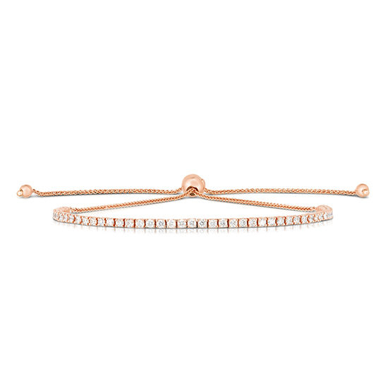 Diamond Bolo Tennis Bracelet 14k Rose Gold