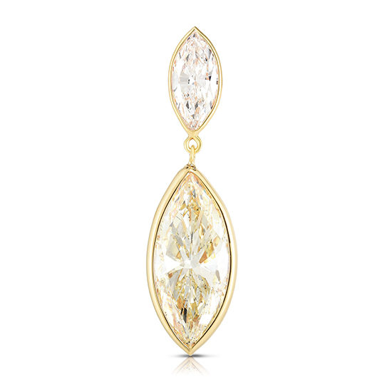 Double Marquise Diamond Drop Earring
