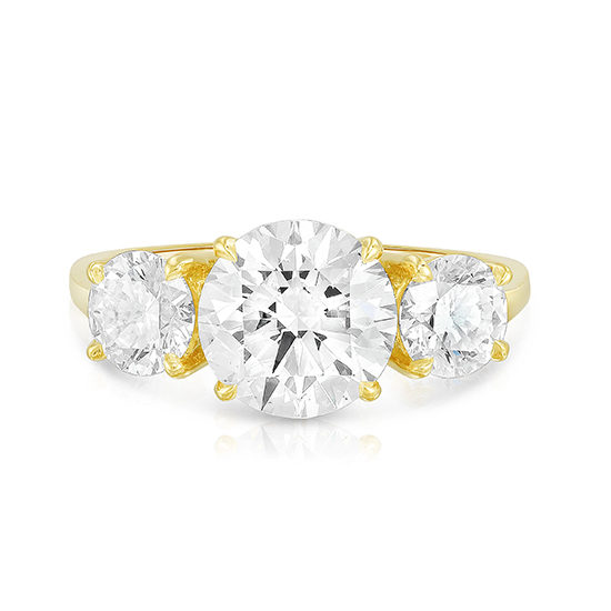 2.03 Carat Round Brilliant Cut Three Stone Engagement Ring | Marisa Perry by Douglas Elliott