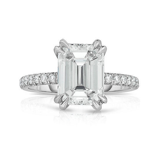 2.65 Carat Emerald Cut DE Diamond Solitaire 2000 | Marisa Perry by Douglas Elliott