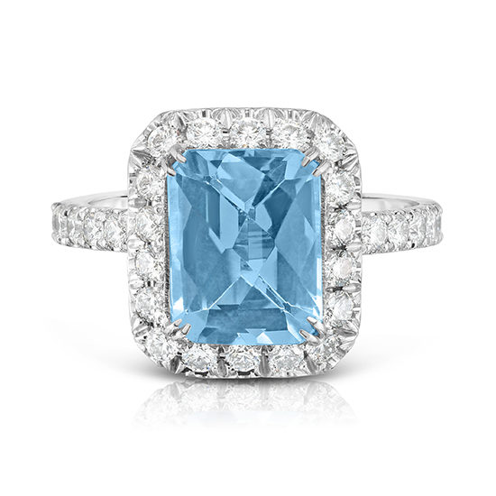 Blue Topaz InLove Ring Platinum | Marisa Perry by Douglas Elliott