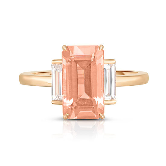 Morganite and Diamond Three Stone Rosie Ring | Marisa Perry by Douglas Elliott