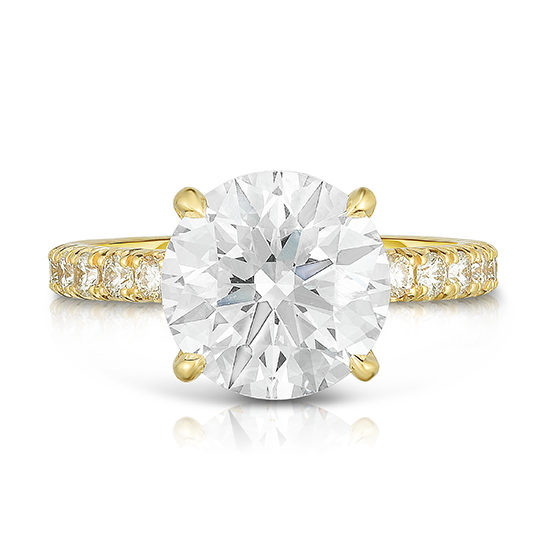 The 3.76 Carat Round Brilliant Cut DE Diamond Solitaire | Marisa Perry by Douglas Elliott