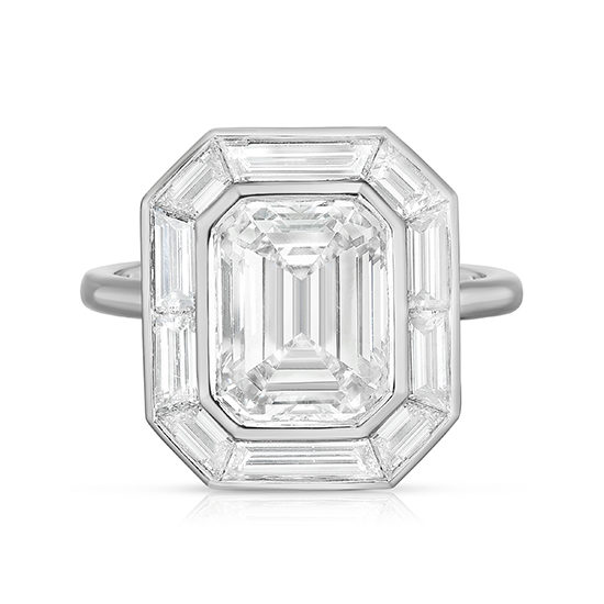 The Emerald Cut Diamond Deco Dream 2.0 Platinum | Marisa Perry by Douglas Elliott