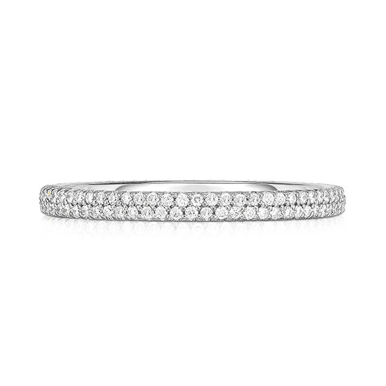 Double Row Half Point Micro Pave Band | Marisa Perry by Douglas Elliott