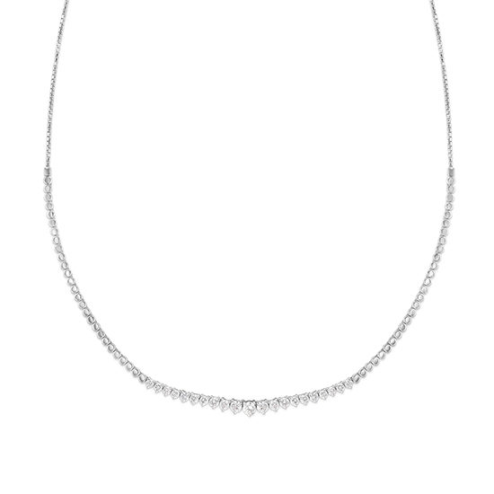 Graduated Diamond Bolo Necklace 14k White Gold | Marisa Perry
