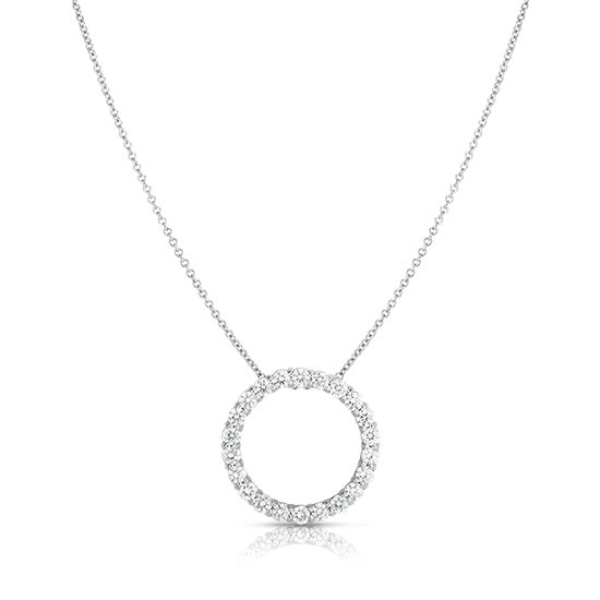Diamond Circle Pendant in 14k White Gold | Marisa Perry
