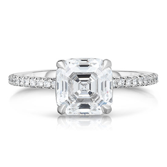 The 1.71 Carat Royal Asscher Cut DE Diamond Solitaire | Marisa Perry by Douglas Elliott