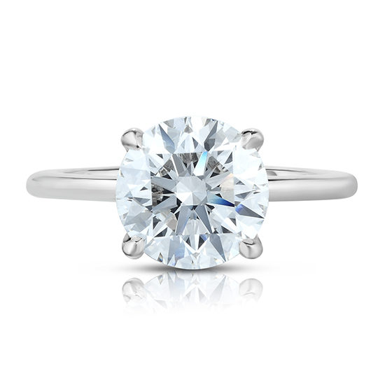 2.50 Carat Round Brilliant Cut DE Solitaire Platinum | Marisa Perry by Douglas Elliott