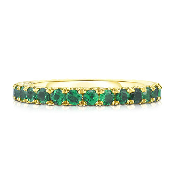 Dark Green Tsavorite Micro Pave Eternity Band | Marisa Perry By Douglas Elliott